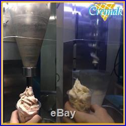 Swirl freeze frozen yogurt fruit ice cream machine 3 PC cones commercial use