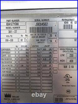 TAYLOR 341-27 HD COMMERCIAL WATER COOLED SLUSH FREEZER MACHINE, 208-230V, 1Ph
