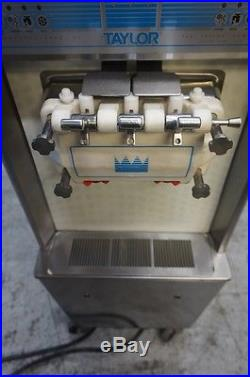 Taylor Commercial Soft Serve Twist Ice Cream Machine On Caster Model 794-33