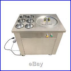 TOP Self-Picking-Up Fried Ice Machine Roll Fried Ice Cream Making Machine