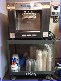 Taylor 162 Soft Serve Machine great condition, includes steel cart + more