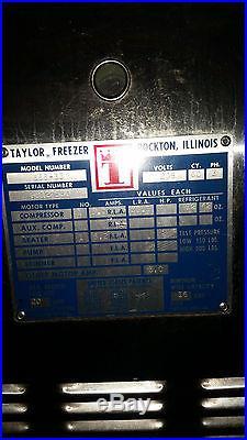 Taylor 666-33 Soft Serve & Shake Ice Cream Machine Combo 208v Tested