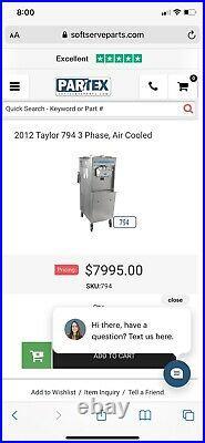 Taylor 794-33 Twin Twist Soft Serve Ice Cream Maker