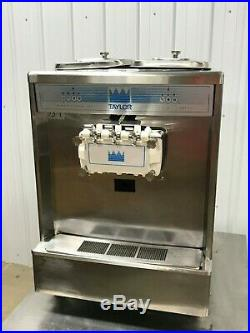Taylor Soft Serve 2 Flavor WithTwist Ice Cream Machine, Air Cooled 1 Phase, 338-27