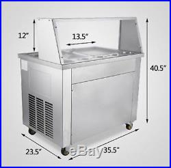 Thai Fried IceCream Machine with Double Pans Ice Cream Roll Maker 22L/H