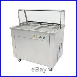 Thai Fried IceCream Machine with Double Pans&Ice Cream Roll Maker Local Pickup