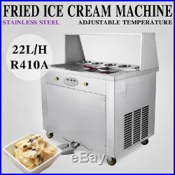 Thai Fried Ice Cream Maker Roll Ice Cream Machine with Temperature Control Panel
