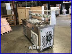 Thai Fried Ice Cream Roll Maker Machine Double Pan CoolerDepot NSF-FI92