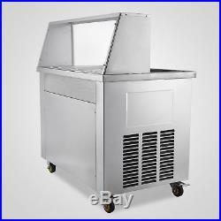Thai Hot Fried Ice Cream Machine Double Pans 5 Boxes Yogurt Ice Maker Roll 22L/H