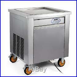 Thai fried ice cream machine, roll ice cream maker with temperature control panel
