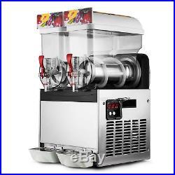 Top 2 Tank Commercial Frozen Drink Slush Slushy Make Machine Smoothie Maker