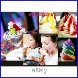 USA Frozen Soft Serve Ice Cream Maker Machine Mix Flavors 3 Head 18L/H LED