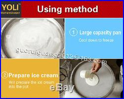 USA stock now thail double round pan Fried ice cream Machine with double R410A