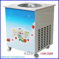 US FDA Single Round Pan Fried Ice Cream Roll Machine Milk Yogurt MAKER Machine