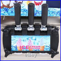Used Commercial Frozen Hard Ice Cream Machine Table Top Freezer 1200W 18L/H