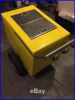 Used Vintage Vendor Ice Cream Push Cart Great Shape Street Venders