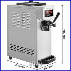 VEVOR 1500W Commercial Soft Ice Cream Machine Frozen Yogurt Maker 1-Flavor
