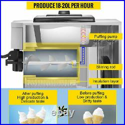 VEVOR 1500W Commercial Soft Ice Cream Machine Frozen Yogurt free ship