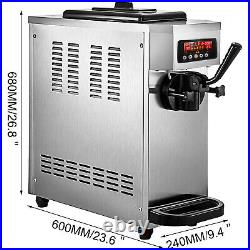VEVOR Commercial Countertop Frozen Soft Serve Ice Cream Maker 4.7-5.3 Gal/H