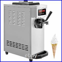 VEVOR Commercial Countertop Frozen Soft Serve Ice Cream Maker 4.7-5.3 Gal/H LCD