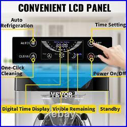 VEVOR Commercial Hard Ice Cream Machine Yogurt Maker LCD Display 4.8-6.3 Gal/H