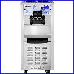 VEVOR Commercial Ice Cream Machine Soft Serve Machine 3 Flavors Ice Cream Maker