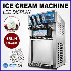 VEVOR Commercial Soft / Hard Ice Cream Machine Mix Flavor Ice Cream Maker 110V