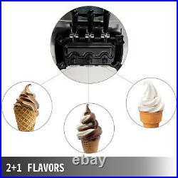 VEVOR Commercial Soft Ice Cream Machine 3 Flavors Frozen Yogurt Maker Machine