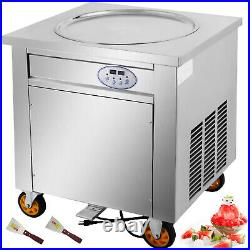 VEVOR Fried Ice Cream Machine 20 Round Pan Yogurt Roll Ice Cream Machine 1800W