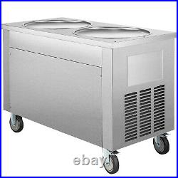 VEVOR Fried Ice Cream Roll Machine Commercial Ice Roll Maker for Yogurt 2-Pan