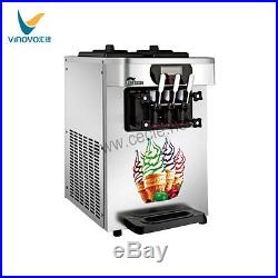 VINOVO Economic Commercial Soft Serve Ice Cream Machine 18L/H