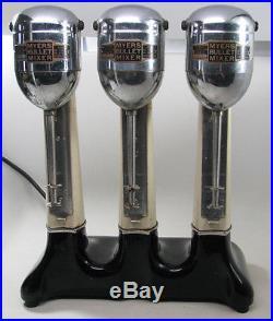 Vintage Art Deco Myers Bullet Triple Ice Cream Shake Malt Soda Mixer Machine