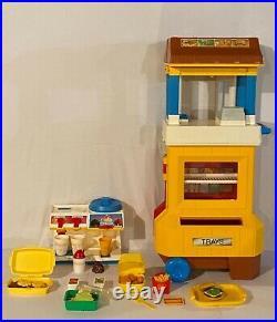Vintage McDonalds Drive Thru Fisher Price + Food + Ice Cream Machine LOADED