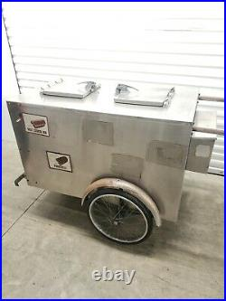Vintage Worksman Cycles Stainless Steel Ice Cream Push Cart Restoration $1099