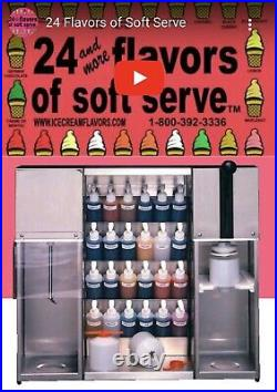 Wadden System 24 / 54 Flavors Frozen Soft Serve Machine With Side Stand & Extra