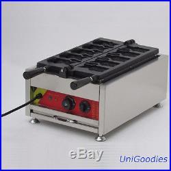 Waffle Machine Maker Ice Cream Cones 5 Big Mouth Fish Taiyaki Non-Stick 110/220V